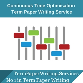 Continuous Time Optimisation Term Paper Writing Service