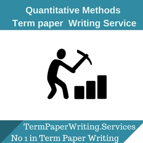QUANTITATIVE METHODS TERM PAPER Writing Service