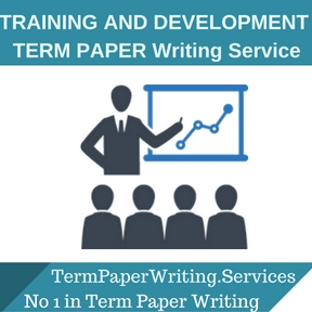 TRAINING AND DEVELOPMENT TERM PAPER Writing Service