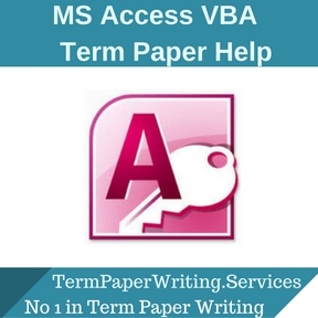 MS Access VBA Term Paper Help